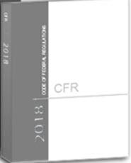 CFR 21 Food & Drugs