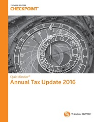 Quickfinder Annual Tax Update 2016