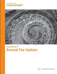 Quickfinder Annual Tax Update