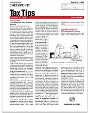 Quickfinder Tax Tips Newsletter