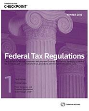 RIA Federal Tax Regulations (Winter 2017 Edition)