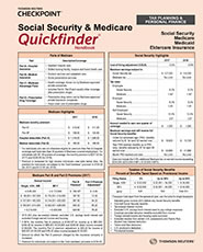 Quickfinder Social Security & Medicare Quickfinder Handbook