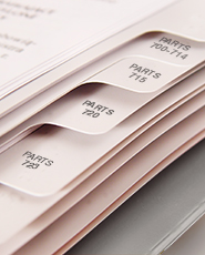Index Tabs for the Customs Regulations