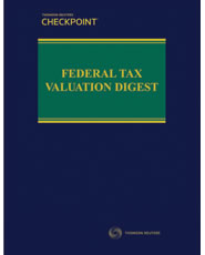 Federal Tax Valuation Digest