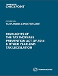 Highlights of the Tax Increase Prevention Act of 2014 & Other Year-End Tax Legislation