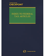 Index to Federal Tax Articles
