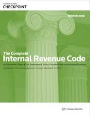 Complete Internal Revenue Code (Winter 2020 Edition)