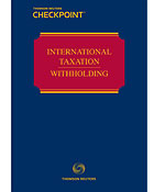 International Taxation: Withholding