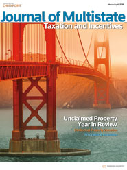 Journal of Multistate Taxation and Incentives