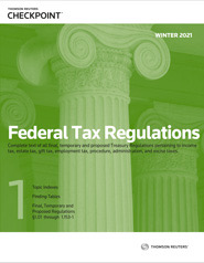 Federal Tax Regulations (Winter 2021 Edition)