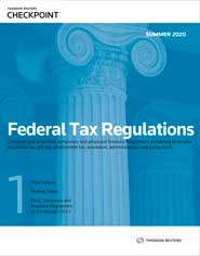 RIA Federal Tax Regulations: Summer Edition