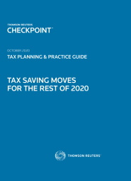 Tax Saving Moves For The Rest of 2020