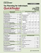 Tax Planning for Individuals Quickfinder Handbook